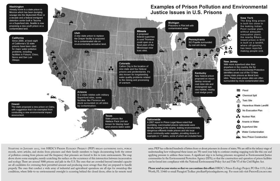 Prison Ecology map